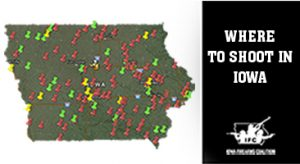 Map of where to shoot in Iowa courtesy of the Iowa Firearms Coalition