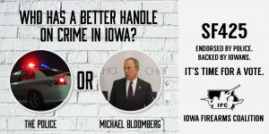 Who has a better handle on crime in Iowa? The police -OR- Michael Bloomberg