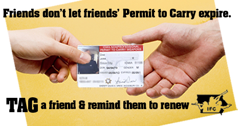 It's been five years since Shall Issue was signed into law, renew your permit today!