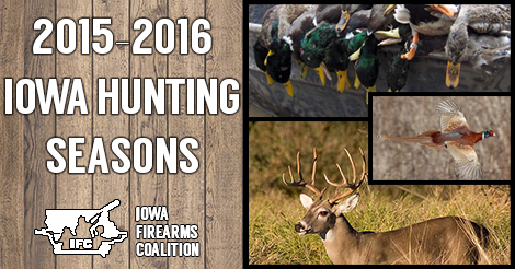 2015-2016 Iowa Hunting Season Dates