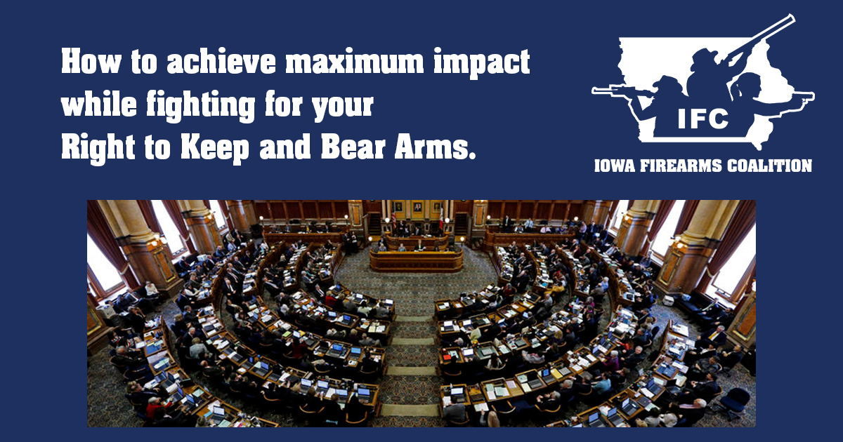 Iowa legislator Amy Sinclair provides an insiders perspective on how to be the most effective 2A advocate you can be.