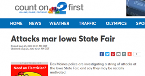 Iowa State Fair mob violence